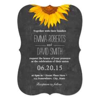 Vintage Sonnenblume-Tafel-Hochzeits-Einladungen