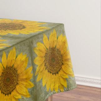 Vintage Sonnenblume-Tischdecke Tischdecke