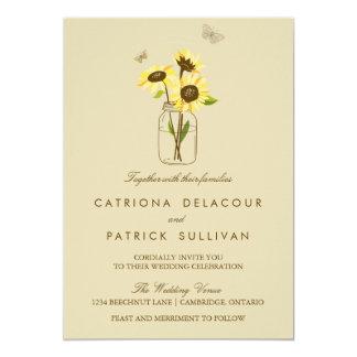 Vintage Sonnenblumen auf Personalisierte Einladungen