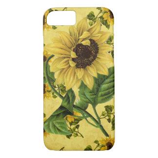 Vintage Sonnenblumen iPhone 7 Hülle