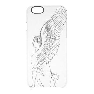 Vintage Sphinxillustration Durchsichtige iPhone 6/6S Hülle