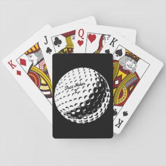 Vintage Spielkarten des Golfballs