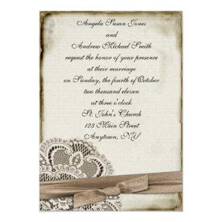 Vintage Spitze-Einladung Melinda 12,7 X 17,8 Cm Einladungskarte