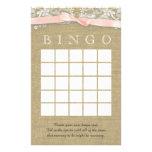 Vintage Spitze und erröten Bogen-Duschen-Bingo Personalisierte Druckpapiere
