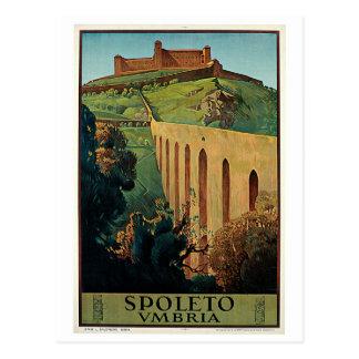Vintage Spoleto Umbrien Zwanzigerjahre Postkarte