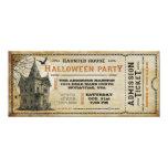 Vintage Spuk Haus-Halloween-Party-Karte I Personalisierte Ankündigungskarten
