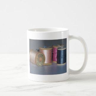 Vintage Spulen des Fadens Kaffeetasse