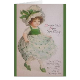 Vintage St Patrick Tagesgruß-Karte Karte