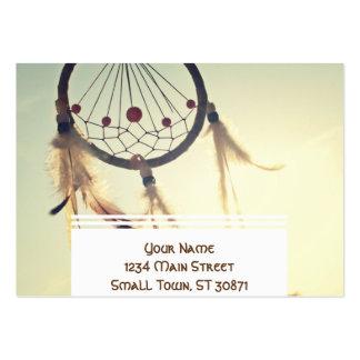 Vintage Stammes- Hipster-Traum-Fänger-Verzierung Jumbo-Visitenkarten