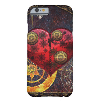 Vintage Steampunk Herz-Tapete Barely There iPhone 6 Hülle