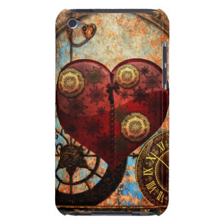 Vintage Steampunk Herz-Tapete Barely There iPod Etuis