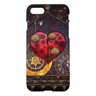 Vintage Steampunk Herz-Tapete iPhone 8/7 Hülle