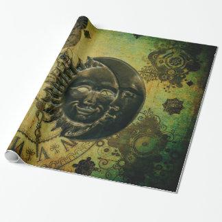 Vintage Steampunk Tapete Geschenkpapierrolle