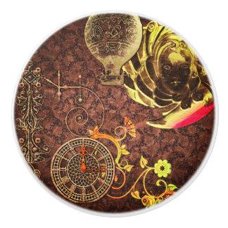Vintage Steampunk Tapete Keramikknauf