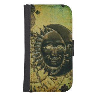 Vintage Steampunk Tapete Phone Geldbeutel