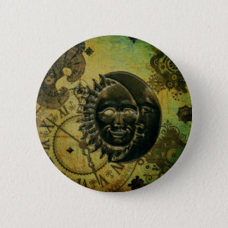 Vintage Steampunk Tapete Runder Button 5,1 Cm