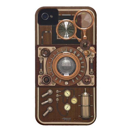 Vintage Steampunk TLR Kamera iPhone 4 Cover