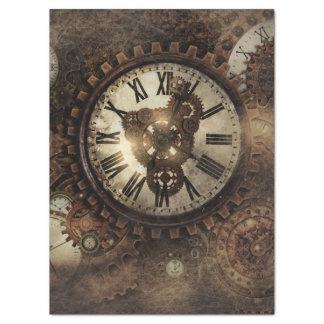 Vintage Steampunk Uhren Seidenpapier