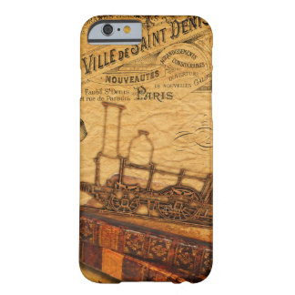 Vintage Steampunk Zug-Tapete Barely There iPhone 6 Hülle