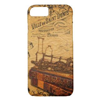 Vintage Steampunk Zug-Tapete iPhone 8/7 Hülle