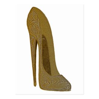 Vintage Stilett-Schuh-hohe Fersen-Kunst-Geschenke Postkarte