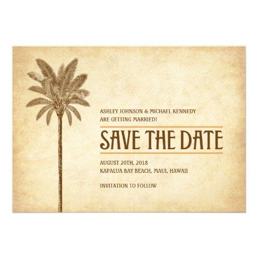 Vintage Strand-Hochzeit Save the Date Individuelle Einladungen