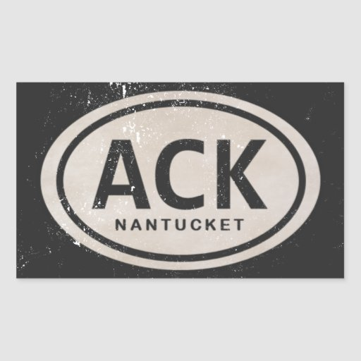 Vintage Strand-Umbau-Aufkleber ACK Nantucket MA