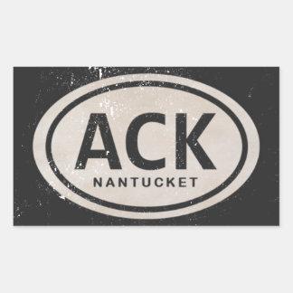 Vintage Strand-Umbau-Aufkleber ACK Nantucket MA Rechteckiger Aufkleber