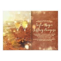 Vintage Strand-Verlobungs-Party Einladung