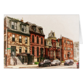 Vintage Straße in Halifax Karte