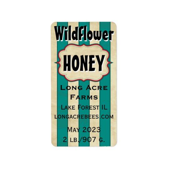 Vintage Streifen-Wildblume kundengebundenes Adressaufkleber