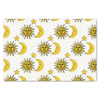 Vintage Sun-Mond-Sternchen-Vereinbarung Seidenpapier