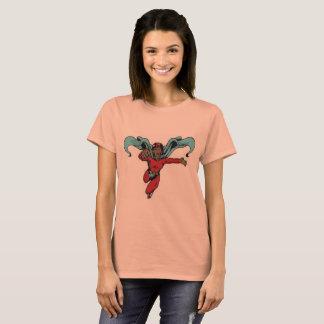 Vintage Superheld-Frau T-Shirt