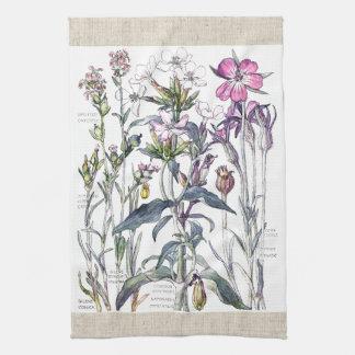 Vintage süße William-Blumen-Küchen-Tücher Handtuch
