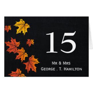 Vintage Tafel-Hochzeit im Herbsts-Tischnummern Karte