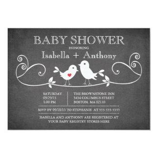 Vintage Tafel-Liebe-Vogel-Baby-Dusche 12,7 X 17,8 Cm Einladungskarte