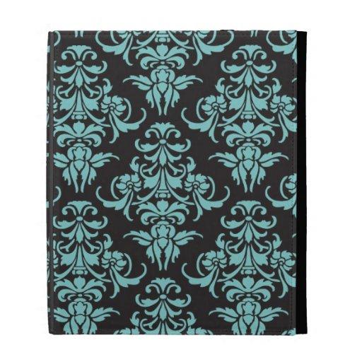 vintage tapete des damastes blauer girly chic zazzle. Black Bedroom Furniture Sets. Home Design Ideas