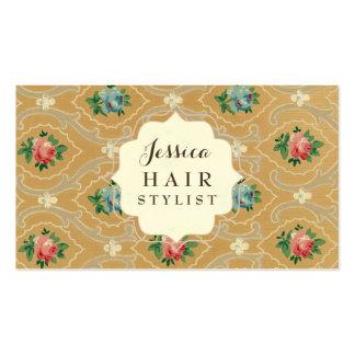 Vintage Tapeten-Haar-Stylist-Verabredungs-Karten Visitenkarten