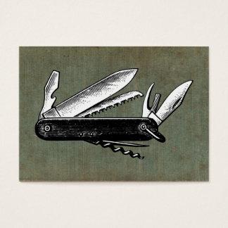 Vintage Taschen-Messer-Kunst Visitenkarte