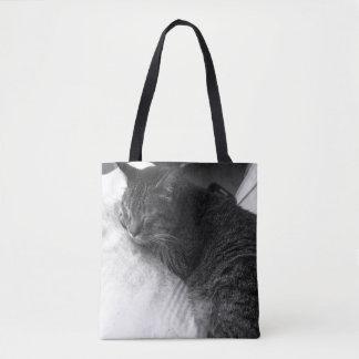 Vintage Taschen-Tasche des Schlafenkatzen-Foto-| Tasche