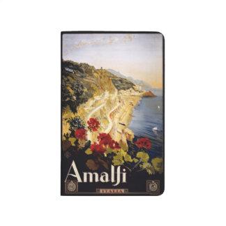 Vintage Taschenzeitschrift Reise-Amalfis Italien Taschennotizbuch
