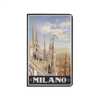 Vintage Taschenzeitschrift Reise-Mailands Mailand Taschennotizbuch