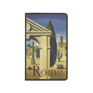 Vintage Taschenzeitschrift Reise-Roms Italien Taschennotizbuch