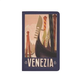 Vintage Taschenzeitschrift Reise-Venedigs Italien Taschennotizbuch