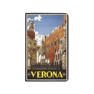 Vintage Taschenzeitschrift Reise-Veronas Italien Taschennotizbuch