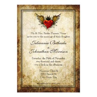 Vintage Tätowierung Winged Individuelle Einladungskarten