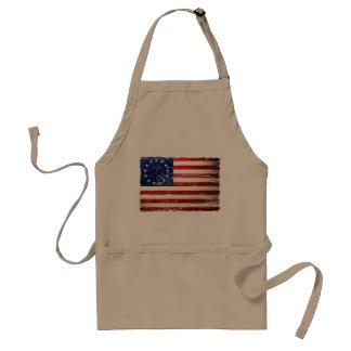 Vintage Tattered amerikanische Flaggen-Schürze Bet Schürze