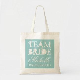 Vintage Teambraut-Hochzeits-Tasche sackt | Budget Stoffbeutel