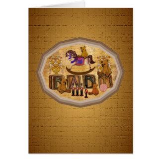Vintage Teddy-Bären Karte