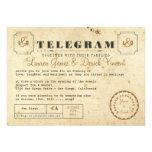 Vintage Telegramm-Einladungs-Postkarte